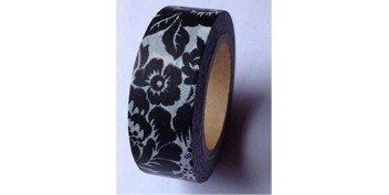 Masking Tape fleurs baroques - noir