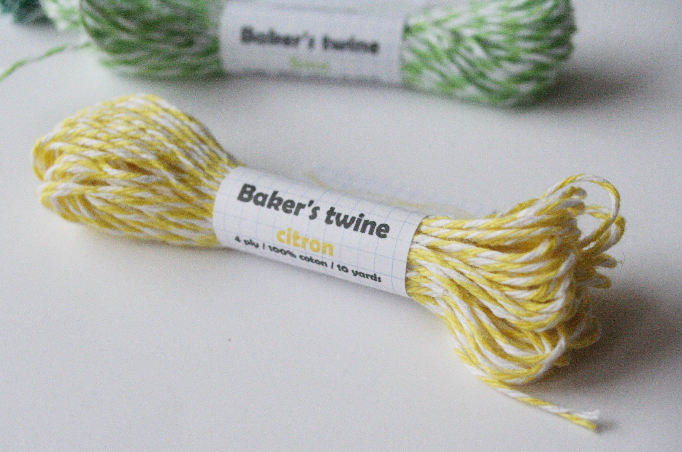 baker's twine / citron