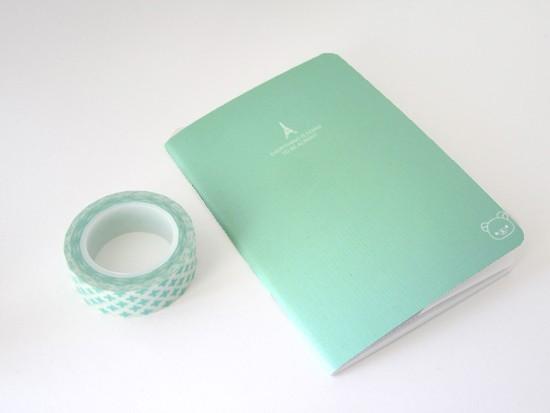carnet uni - bleu turquoise