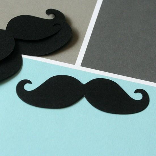 étiquettes moustaches  (x10)