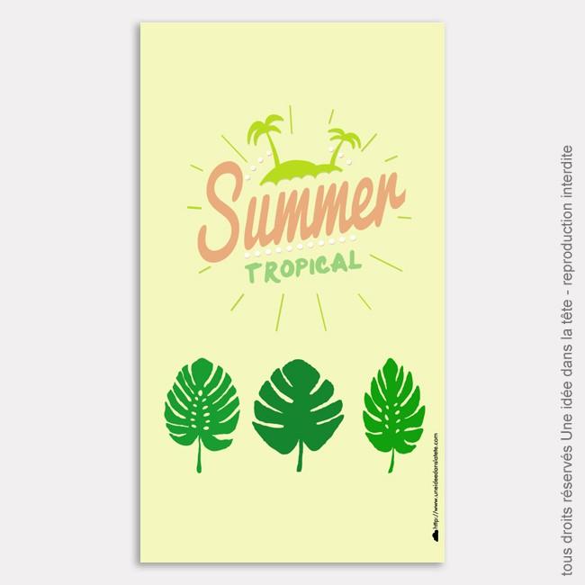 DIY : feuilles de tropiques ou comment rendre son téléphone tropicool