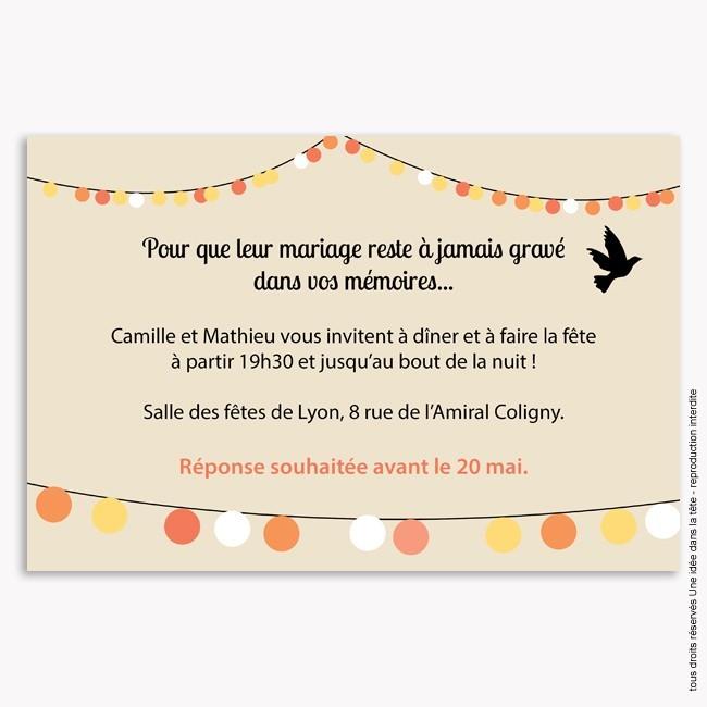 invitation mariage guinguette. Black Bedroom Furniture Sets. Home Design Ideas