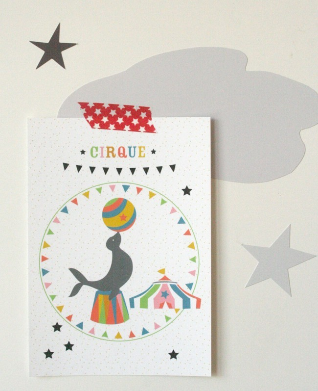 Carte postale Cirque / l'otarie