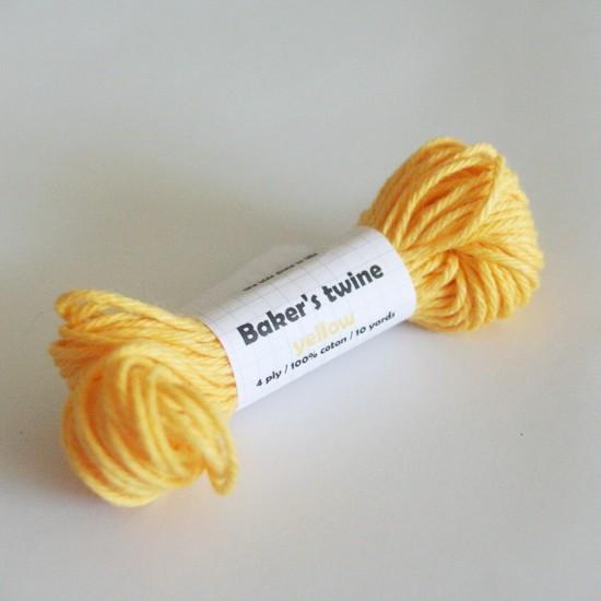 baker's twine uni / jaune