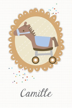 faire-part naissance / Petit cheval