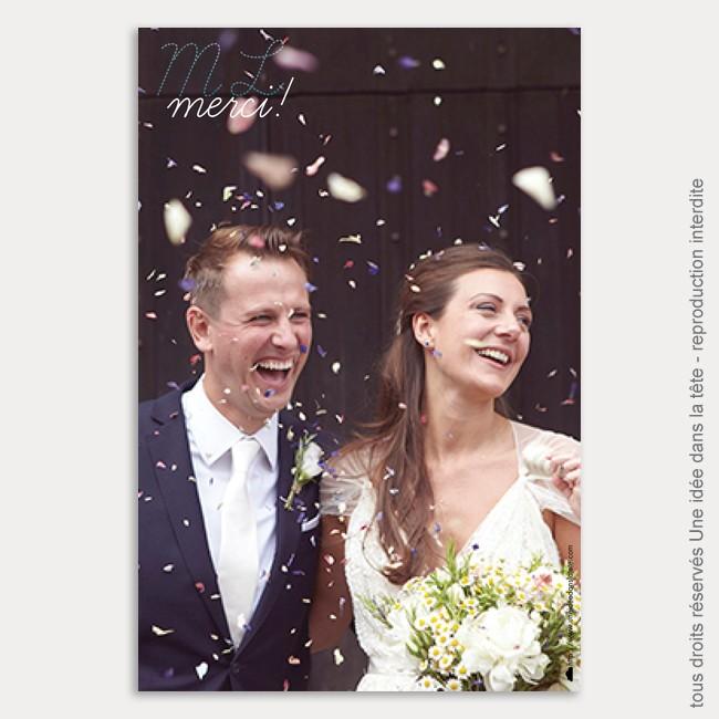 remerciements mariage / aquarelle / bleu