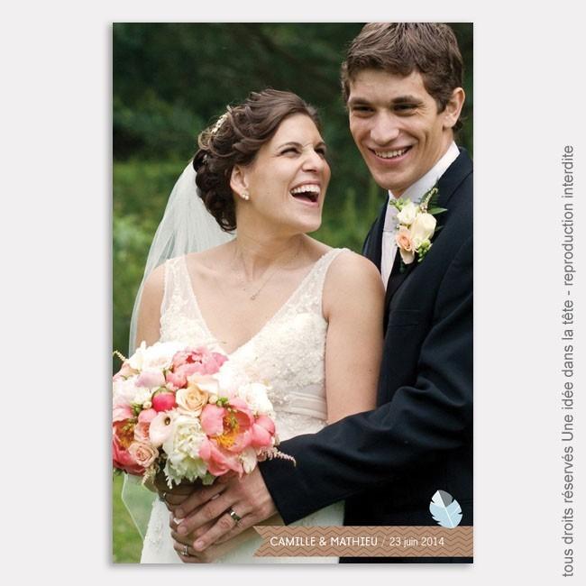 mariage remerciements plume