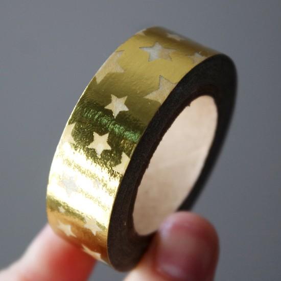 masking tape étoiles / foil or