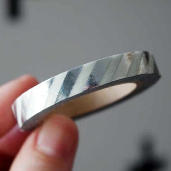 masking tape fin rayures / foil argent
