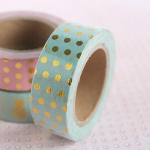 masking tape foil pois / mint