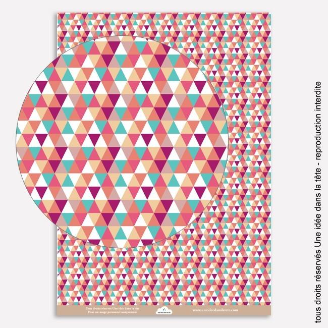 """papiers scrapbooking """"été indien"""" / petits triangles ..."""