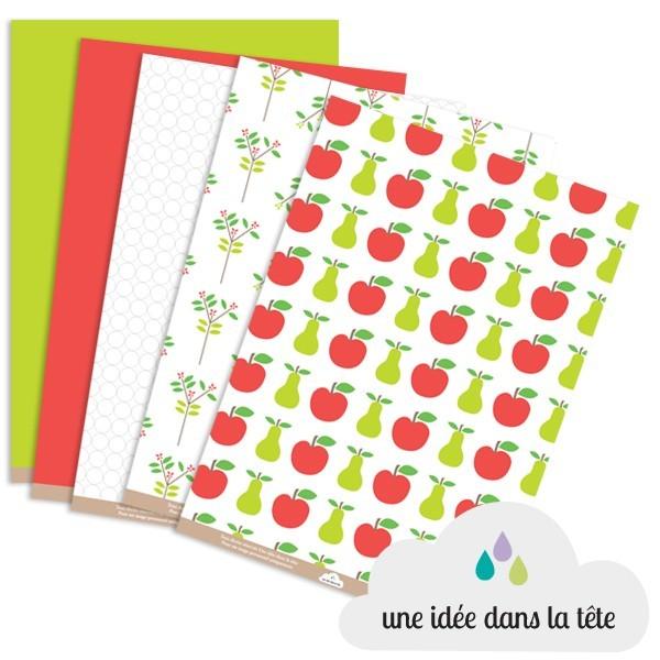 papiers scrapbooking collection : fruits d'été