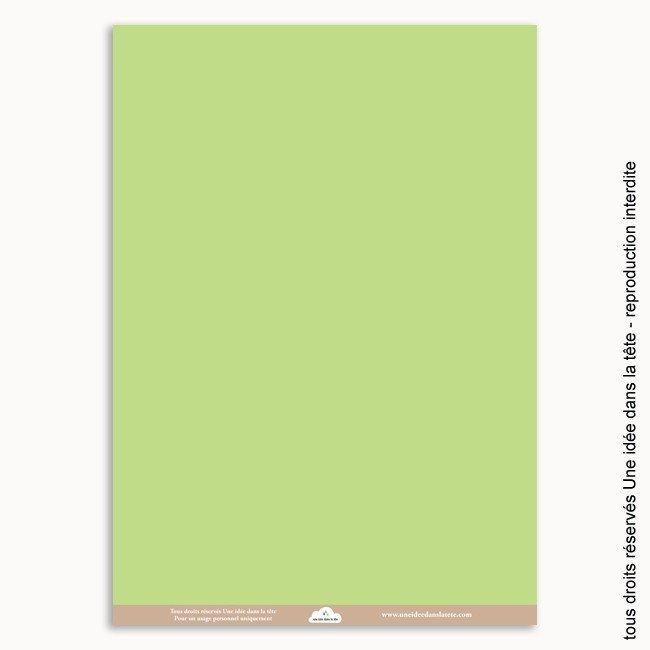 Papier scrapbooking uni vert amande - Papier peint vert amande ...