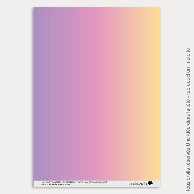 Papier Scrapbooking Licornes / arc-en-ciel