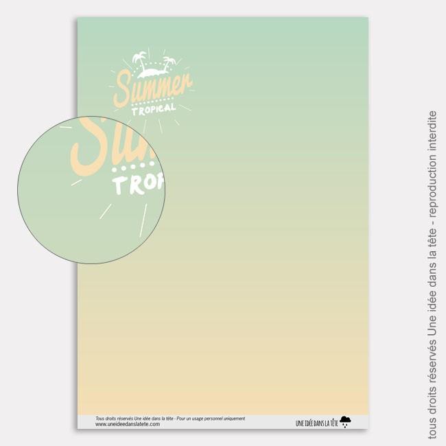Papier Scrapbooking tropicool / summer tropical