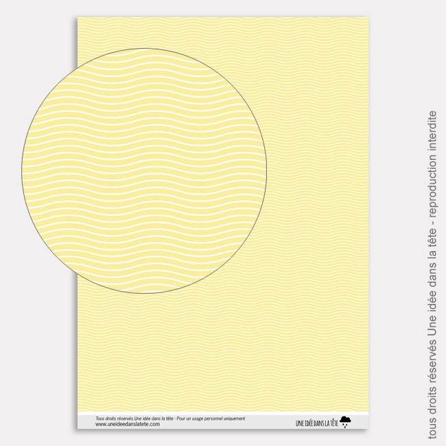 Papier Scrapbooking tropicool / vagues jaunes