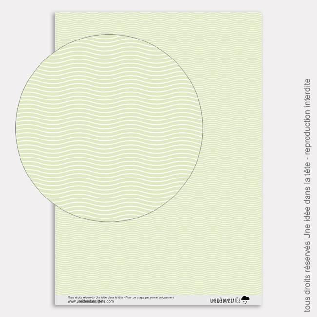 Papier Scrapbooking tropicool / vagues mint