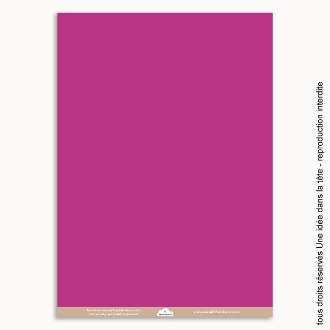 papier scrapbooking uni / violet pourpre