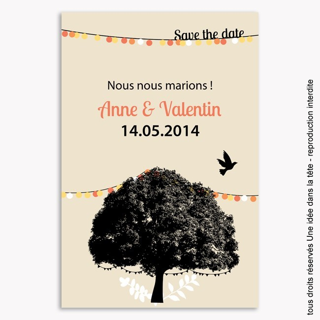 save the date mariage / guinguette