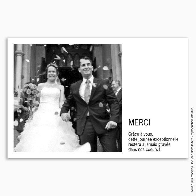 remerciements mariage classique 1 photo justifie - Texte Carte De Remerciement Mariage