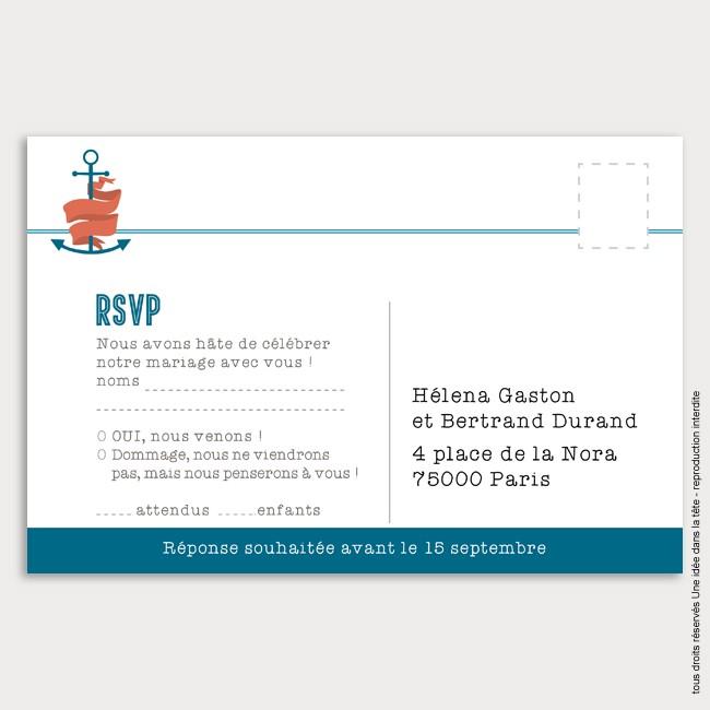 RSVP mariage / marin