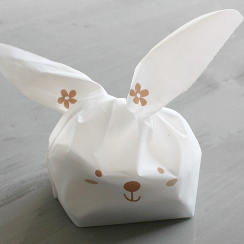 10 Sachets lapin / blanc