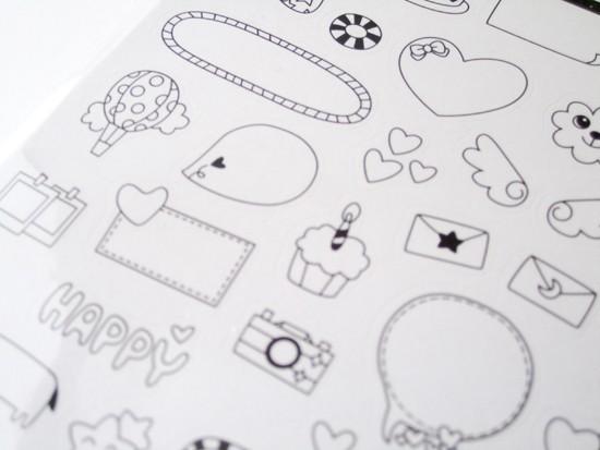 Stickers pour photos et polaroids / noir et blanc