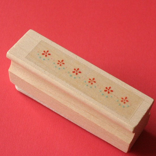 tampon long dentelle fleur
