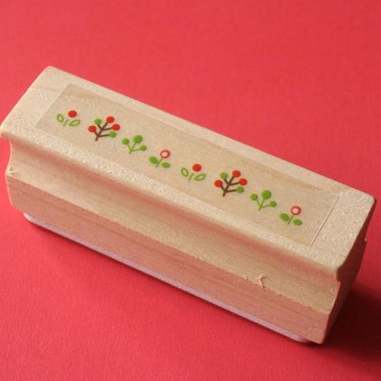 tampon long fleurs