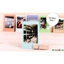 20 stickers polaroid pour photos - couleurs rétros