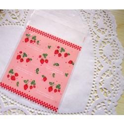 10 Sachets transparents -  les fraises