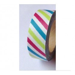 masking tape rayures oblique - multicouleurs pepsi