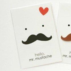 bloc de notes moustache noir