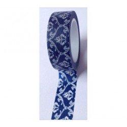 masking tape baroque - bleu marine
