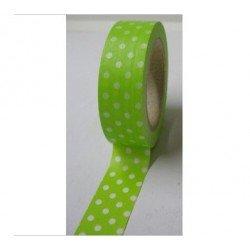 Masking Tape pois - vert