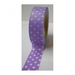 Masking Tape pois - violet