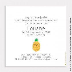 faire-part naissance ananas