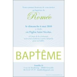 Faire-part Baptême / Eclat de lumière - bleu