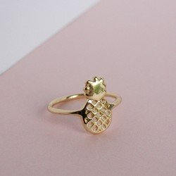 bague ananas / or