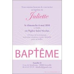 Faire-part Baptême / Eclat de lumière - mauve