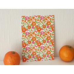 Carte postale Liberty / les fleurs / orange pop