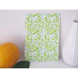 Carte postale Liberty / les fleurs vertes