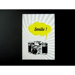 Carte postale appareil photo vintage / jaune