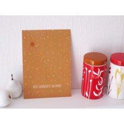 "Carte postale ""my sweet home"" / caramel"