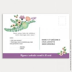 RSVP mariage / bouquet de fleurs
