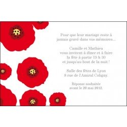 invitation mariage - save the date / les coquelicots