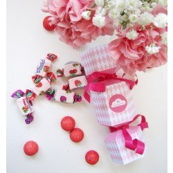 DIY : Candy box - boîte à bonbon / arlequin rose