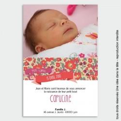 faire-part naissance / Liberty corail