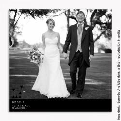 remerciements mariage /  géométrique / noir et blanc