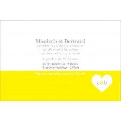 invitation mariage /  un coeur coloré